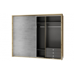 Mediolan 01 Sliding wardrobe with a surrounding panel as standard