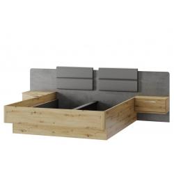 Mediolan 02 Łóżko 160 z szafkami nocnymi