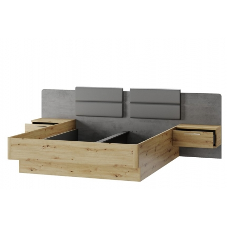 Mediolan 02 Bed with bedside tables