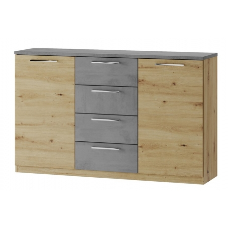 Mediolan 05 Two-door chest of 4 drawers