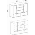 chest of drawers NANO NA7