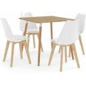 Dining Room Table Kitchen Table with 4 Chairs White