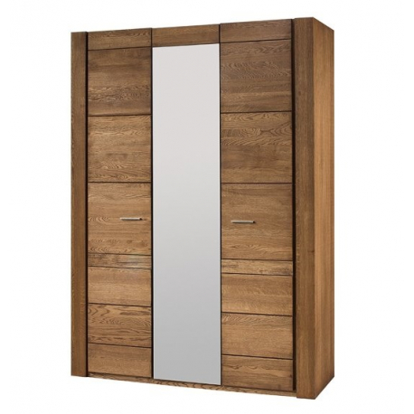 Velvet 73 Three door wardrobe with mirror