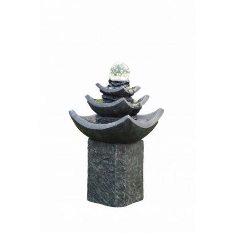 Fontanna 3 Poziomowa Kryształowa Kula,LED,H 59cm