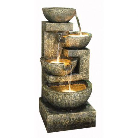 Fontanna,kaskada Large Granite 4 Bowl 108cm
