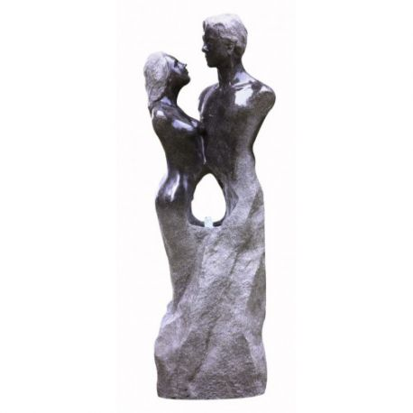 125cm Loving Granite Couple