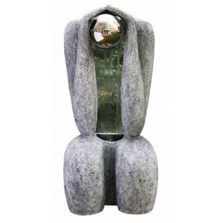 Fontanna,kaskada Granite Sitting Man 1S/S Sphere 113cm