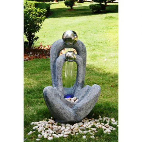 Фонтан, каскад Meditating Couple 2 S/S Spheres 90cм
