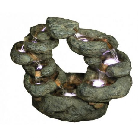 Fontanna, kaskada 10 Fall Oval Rock 71cm