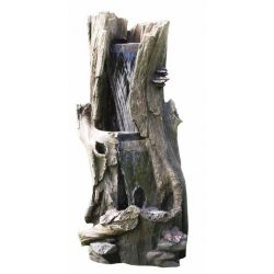 Fontanna,kaskada Tree Trunk 2 Level Waterfall 104cm