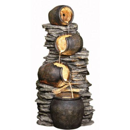 119cm 4 Pots on Rock