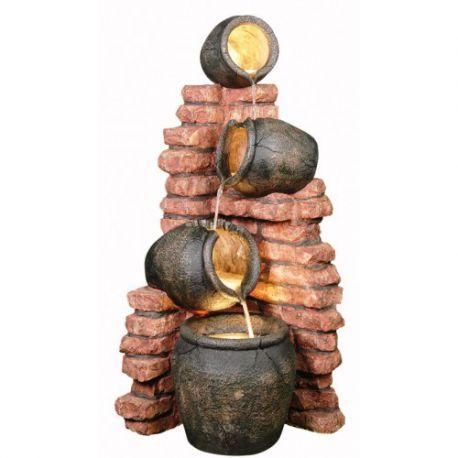 Fontanna, kaskada 4 Pots on Brick 120cm