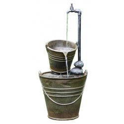 74cm 2 Tin Buckets with Tap