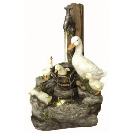 Fontanna, kaskada Duck Family at Tap 56cm