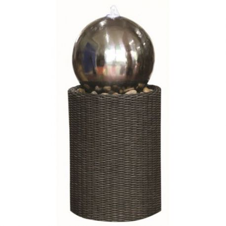 Фонтан, каскад Medium S/S Sphere on Wicker Column 59cм