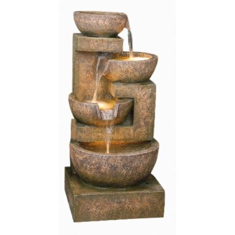 Fontanna,kaskada 4 Granite Copper Bowls 85cm