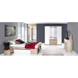 Collection Milo bed 140 (including 2 bedside tables with 2 drawers) (without mattress and grid)