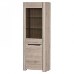 Collection Desjo 1 door display unit, L (optional lighting)
