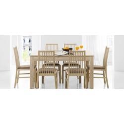Kolekcja  Mars krzesło tapicerowane w tkaninie typu sawana 24 kolor biały