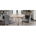 Collection Mars  upholstered chair with fabric - sawana 24 colour white