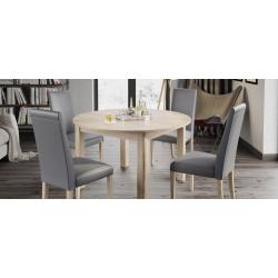 Kolekcja  Mars krzesło tapicerowane w tkaninie typu ekoskóra cayenne 1118 dk grey, kolor biały