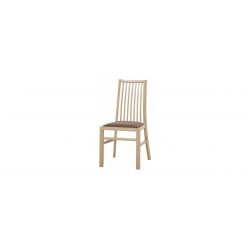 Collection Mars  upholstered chair with faux leather - cayenne 1118 dk grey, colour white
