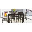 Kolekcja  Mars krzesło tapicerowane w tkaninie typu ekoskóra cayenne 1118 dk grey, kolor wenge