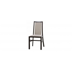 Collection Mars  upholstered chair with faux leather - cayenne 1118 dk grey, colour wenge