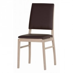 Kolekcja Desjo krzesło tapicerowane w tkaninie typu sawanabrąz