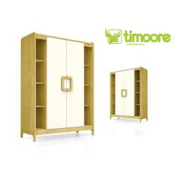 two-door wardrobe with shelves