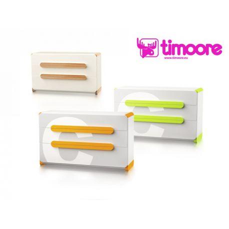 three-drawer chest