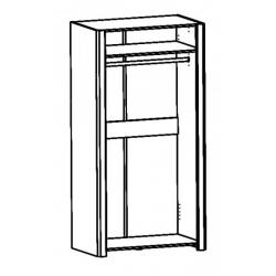 Kolekcja Desjo szafa ubraniowa 2-drzwiowa
