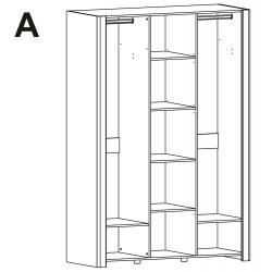 Kolekcja Desjo szafa 3-drzwiowa z lustrem (opcjonalne oświetlenie)