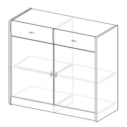 Kolekcja Dover komoda 2-drzwiowa z 2 szufladami