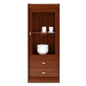 Collection Dover 1 door, 2 drawer display unit, L/R (optional lighting)