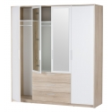 Collection Milo 4 door, 3 drawer wardrobe (with laundry space)