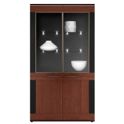 Kolekcja Vievien witryna 2-drzwiowa (oświetlenie opcjonalne)