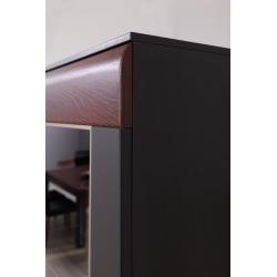 Kolekcja Vievien witryna wisząca 2-drzwiowa (oświetlenie opcjonalne)
