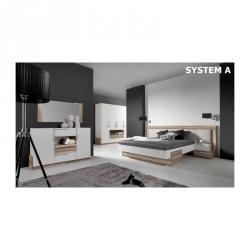 Łóżko ze stelażem Morena 160