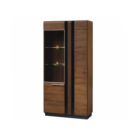 PORTI 12 left glass-fronted cabinet