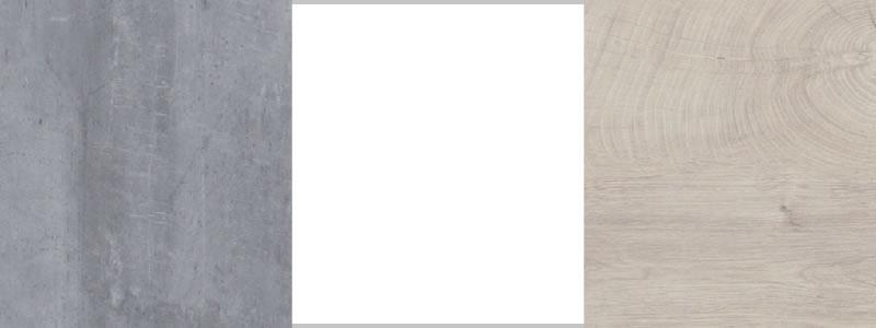 Concrete / White Lux / Oak